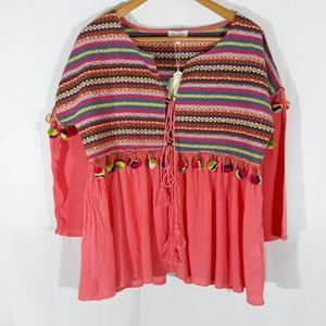 Boho top plus size